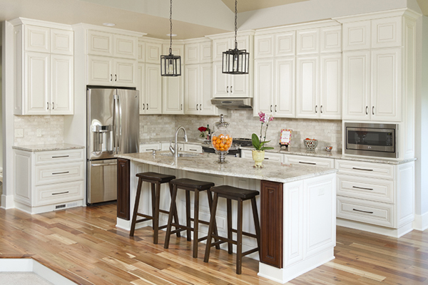 Vintage White Kitchen Cabinets in Minnesota USA