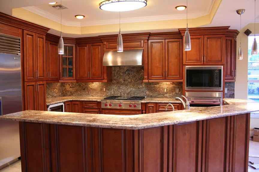 Glazed rta maple kitchen cabinets in minnesota usa for Kitchen cabinets usa