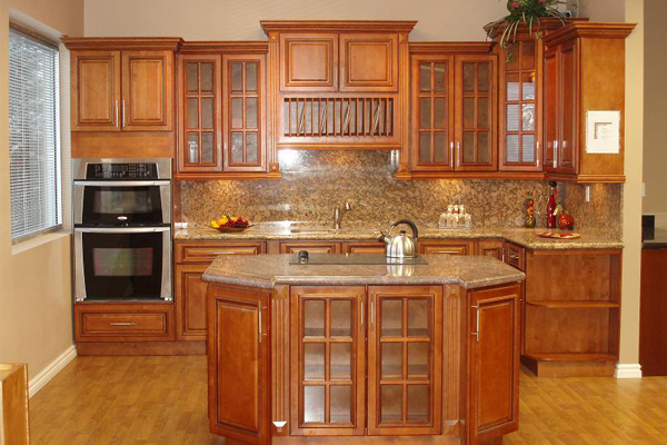 Glazed RTA Maple Kitchen Cabinets in Minnesota, USA