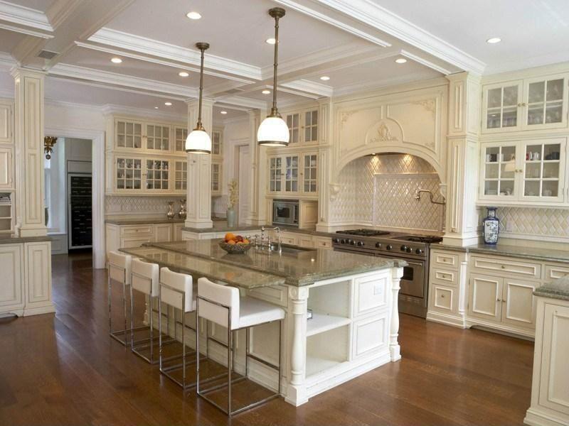 vintage white cabinets